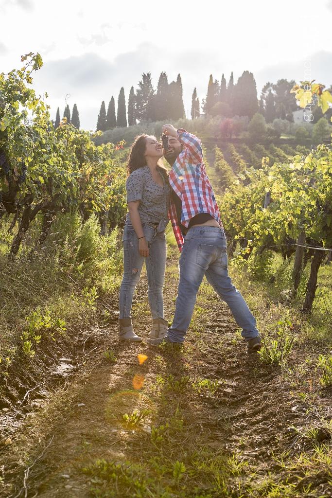 Engagement vigne toscana