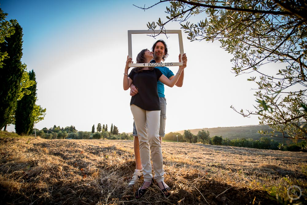 Engagement photography in tuscany