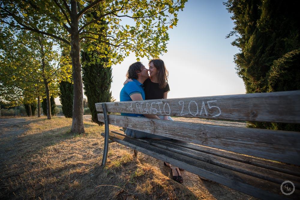 Servizio fotografico di coppia nel chianti